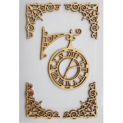 Elemente decor lemn ceas si colturi