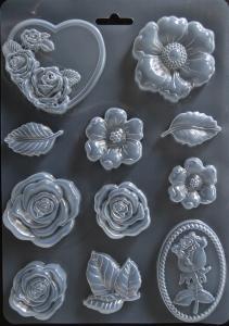 Matrita pentru turnat - Trandafiri
