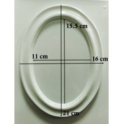 Oval mijlociu 15.5 x 11 cm