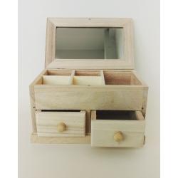 Cutie bijuterii cu 2 sertare 17x10.5x10 cm