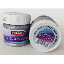 Vopsea textile chameleon argintiu 50 ml