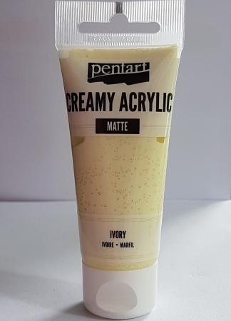 Vopsea acrilica mata - Ivory 60ml