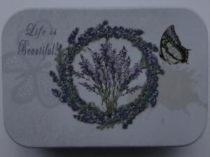 Cutie decorativa din metal, Life is beautiful!