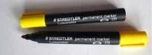 Marker permanent Lumocolor, cu varf rotund