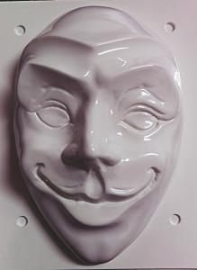 Forme pentru turnat ipsos masca Joker 23 x 15 cm, doua parti