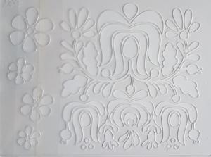 Sablon plastic - Floral 2
