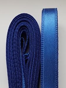 Saten albastru inchis 10 mm