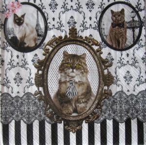 Servetel cu pisici