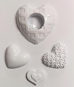 Forme pentru turnat ghips, ipsos, praf ceramica suport lumanare inima