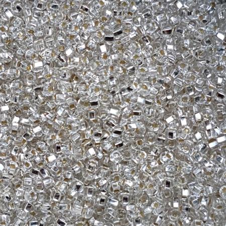 Margele nisip Preciosa Ornela 7/0 - Transparent miez argintiu 78102
