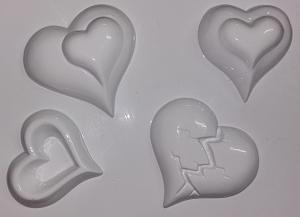 Forme pentru turnat ghips, ipsos, praf ceramica inima