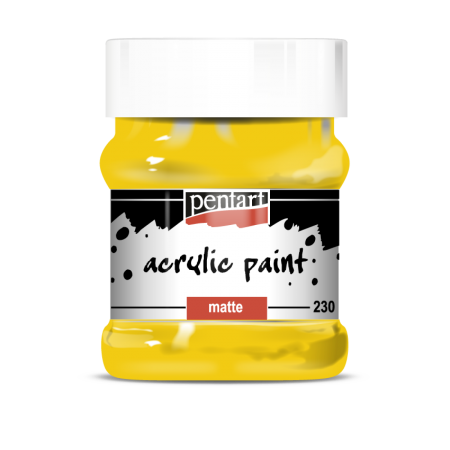 Vopsea Acrilica Mata galben soare (230 ml)