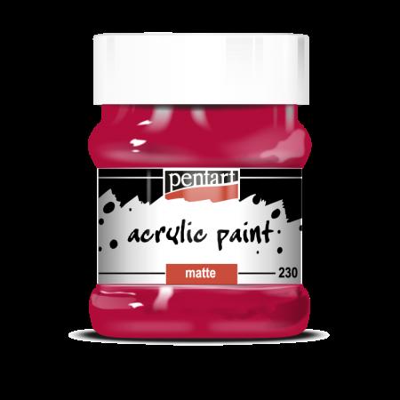 Vopsea acrilica mata 230 ml Rosu Carmin