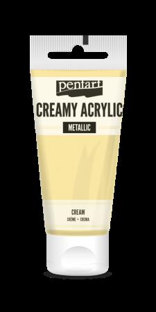 Vopsea acrilica cremoasa, semi-lucioasa-crem- 60 ml