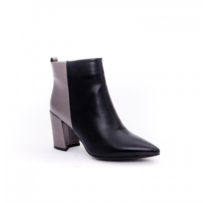 Botine elegante dama VN9239-3 black&pewter 0