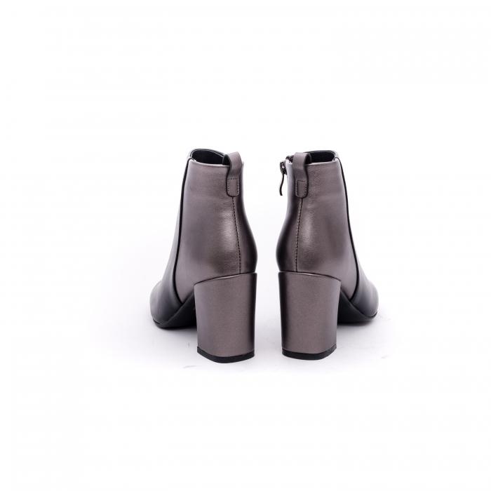 Botine elegante dama VN9239-3 black&pewter 5