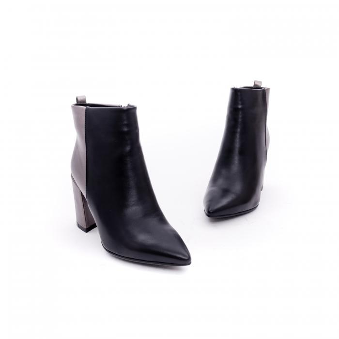 Botine elegante dama VN9239-3 black&pewter 1