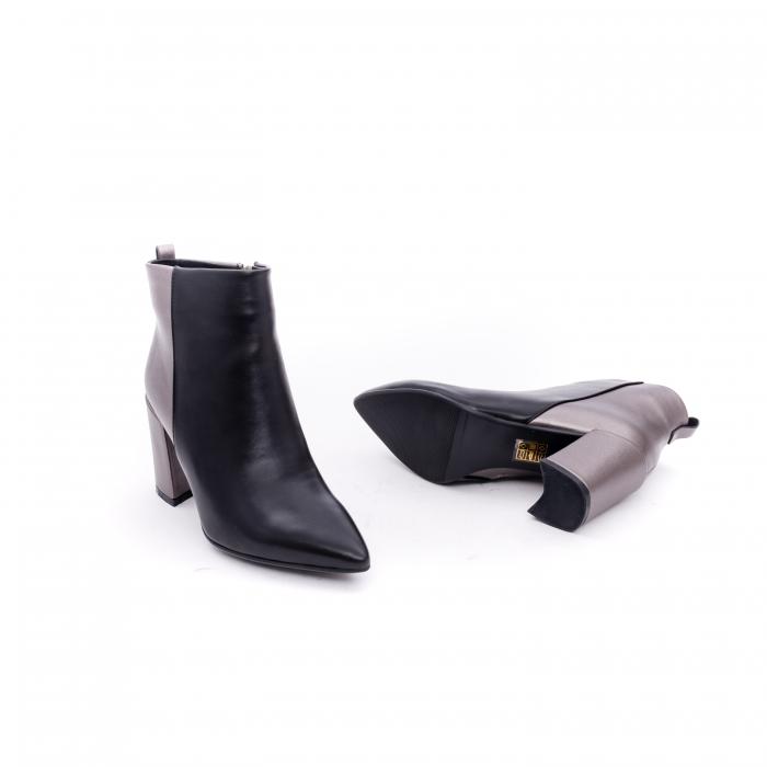Botine elegante dama VN9239-3 black&pewter 2