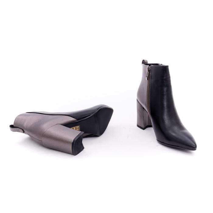 Botine elegante dama VN9239-3 black&pewter 3