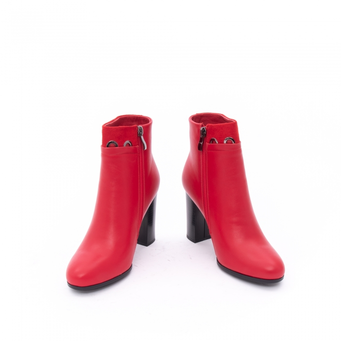 Botine elegante dama VN9327-2 red