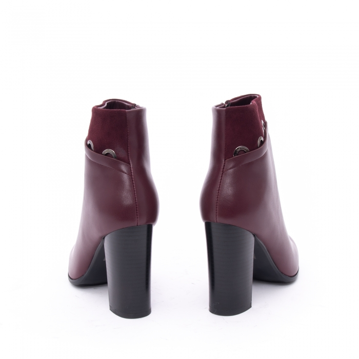 Botine elegante dama VN9327-3 burgundy 4