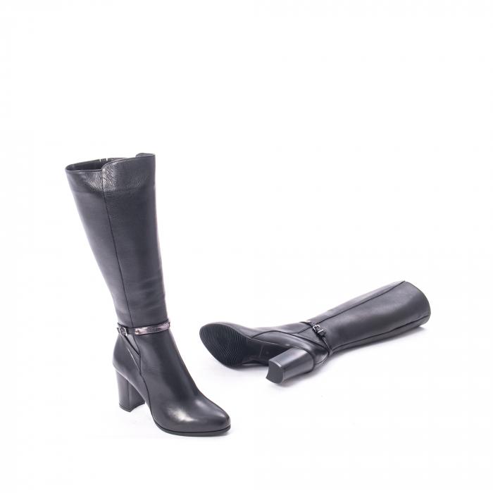 Cizme elegante dama din piele naturala Catali 172854 negru 3