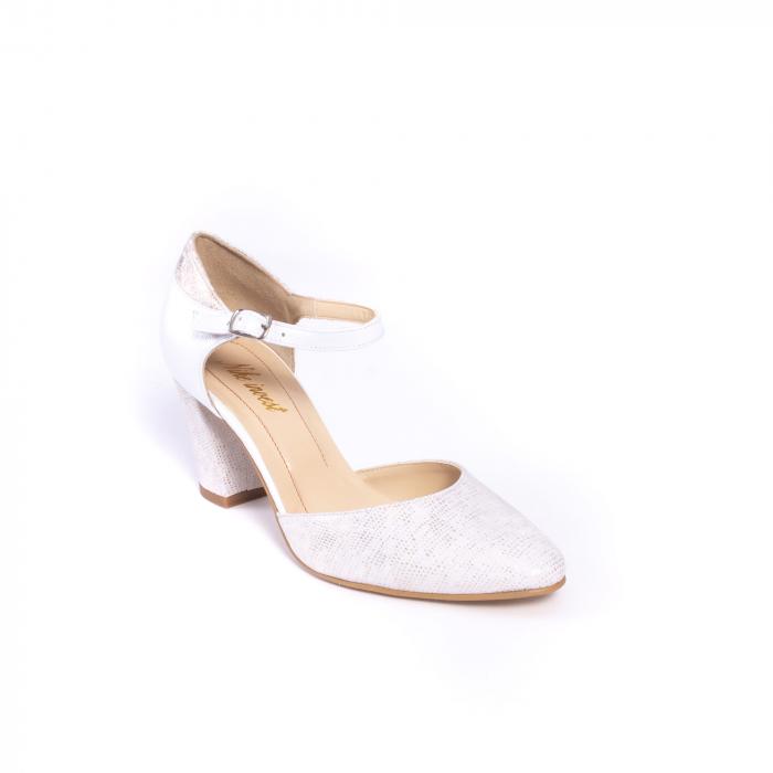Decupat  elegant dama S1208 alb auriu