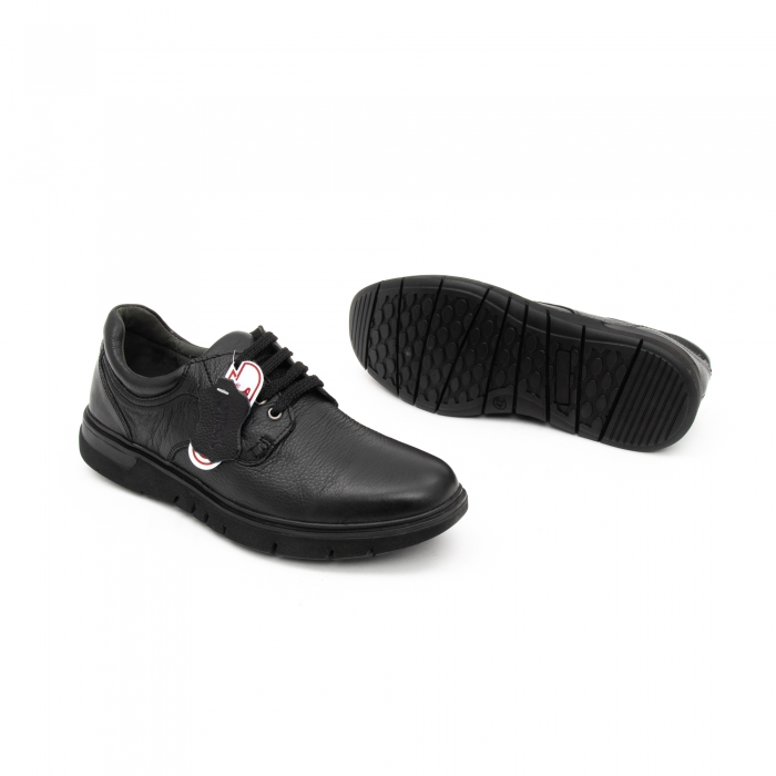 Pantofi barbati casual ,piele naturala Otter 2804, negru 2