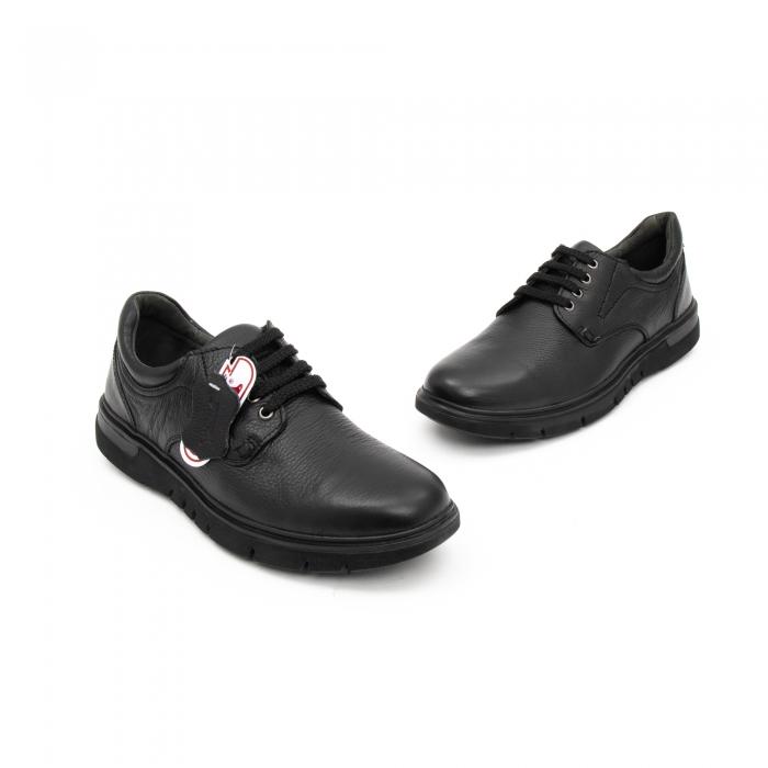 Pantofi barbati casual ,piele naturala Otter 2804, negru 1