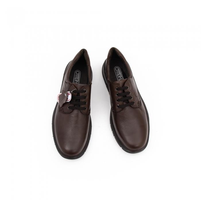 Pantofi barbati casual piele naturala Otter 2804, maro 4