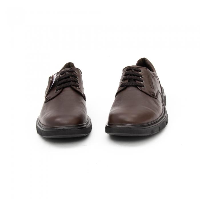 Pantofi barbati casual piele naturala Otter 2804, maro 5