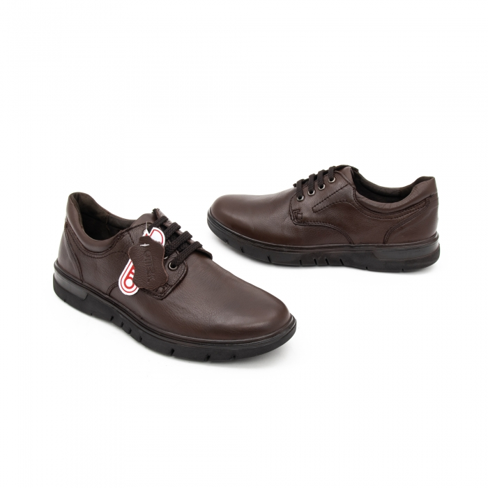 Pantofi barbati casual piele naturala Otter 2804, maro 1