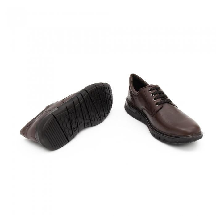 Pantofi barbati casual piele naturala Otter 2804, maro 3