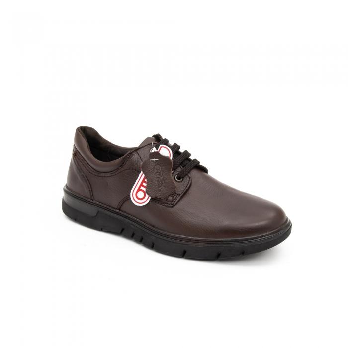 Pantofi barbati casual piele naturala Otter 2804, maro 0