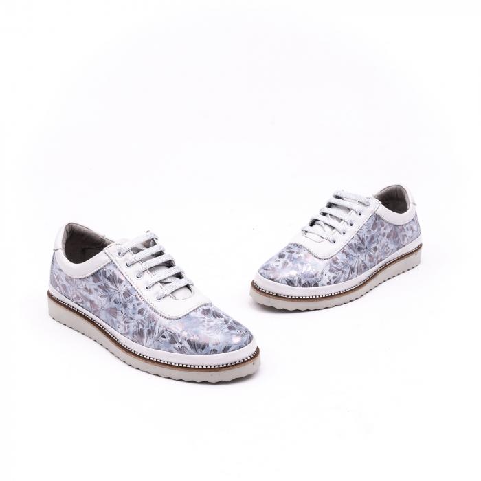 Pantof casual 171608 alb floral 1