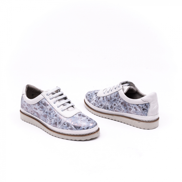 Pantof casual 171608 alb floral 3