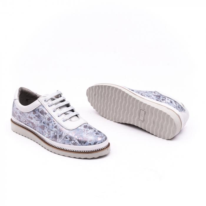Pantof casual 171608 alb floral 2