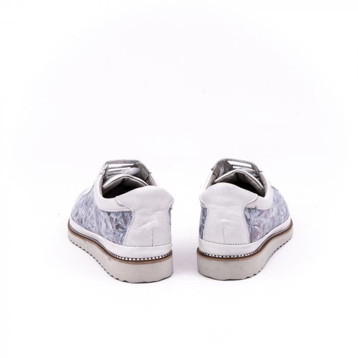 Pantof casual 171608 alb floral 6