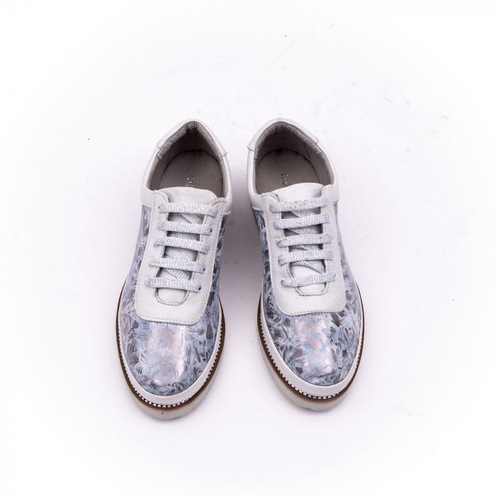 Pantof casual 171608 alb floral 5