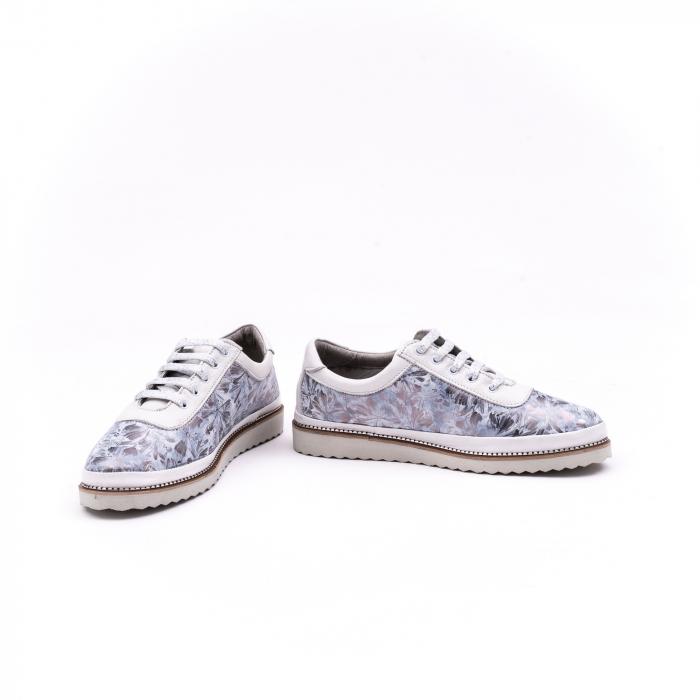Pantof casual 171608 alb floral 4