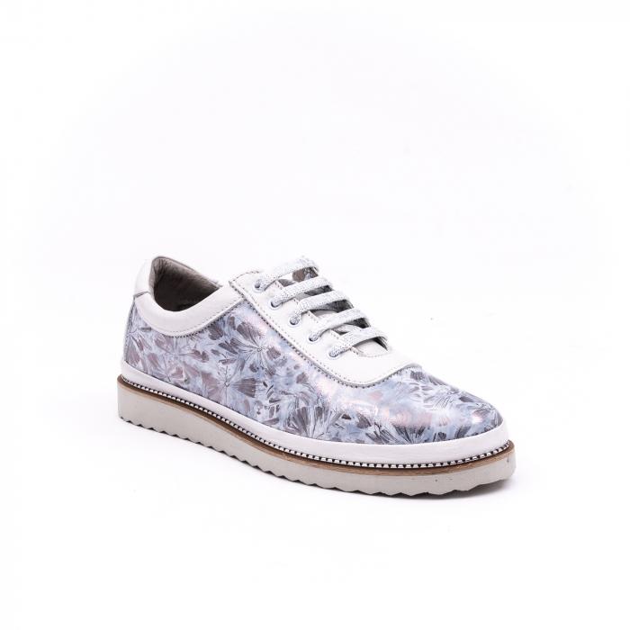 Pantof casual 171608 alb floral 0