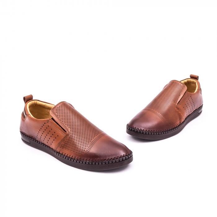 Pantofi barbati casual piele naturala Catali 191543, coniac 1