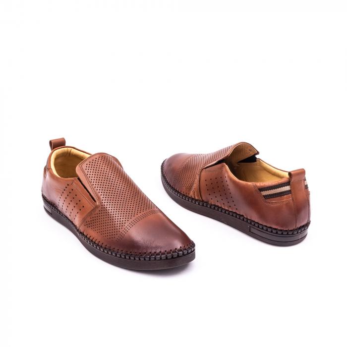 Pantofi barbati casual piele naturala Catali 191543, coniac 3