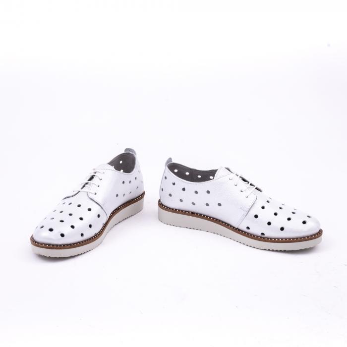 Pantof casual 191640 alb argintiu. 4