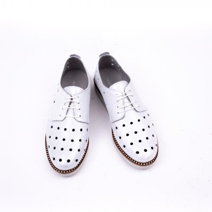Pantof casual 191640 alb argintiu. 5