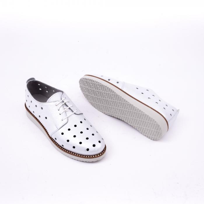 Pantof casual 191640 alb argintiu. 2