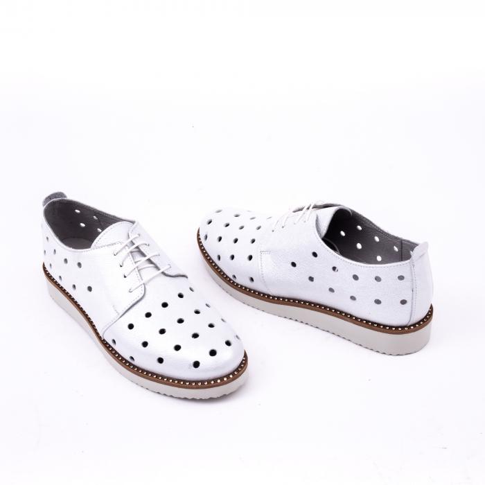 Pantof casual 191640 alb argintiu. 3