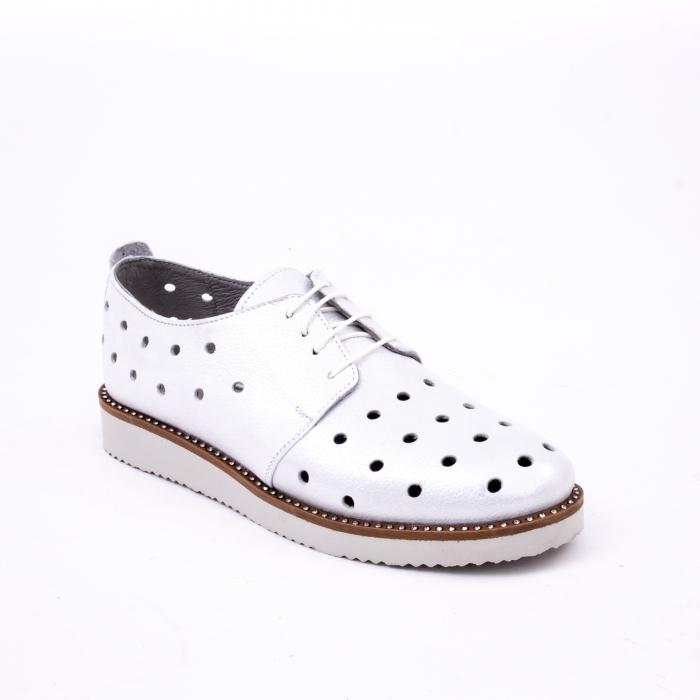 Pantof casual 191640 alb argintiu. 0