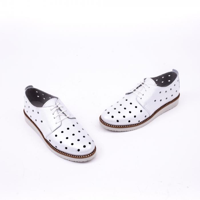 Pantof casual 191640 alb argintiu. 1