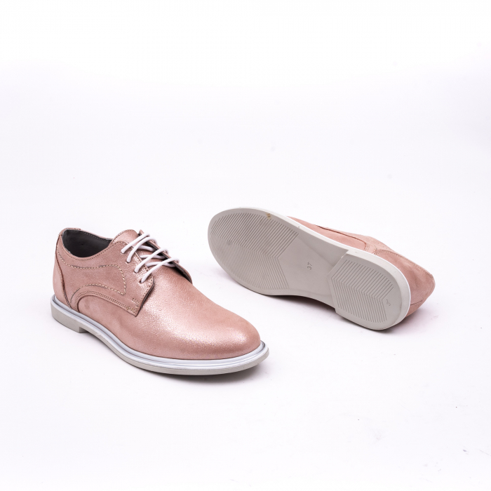 PantofI dama casual piele naturala, Catali-Shoes 191646, pudra 2